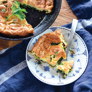 SPRING ASPARAGUS AND SWISS CHARD DUTCH BABY