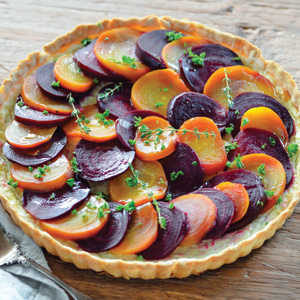 RED AND GOLDEN BEET TART