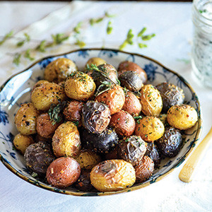 ROASTED NEW POTATOES WITH HERB SALT AND LEMON