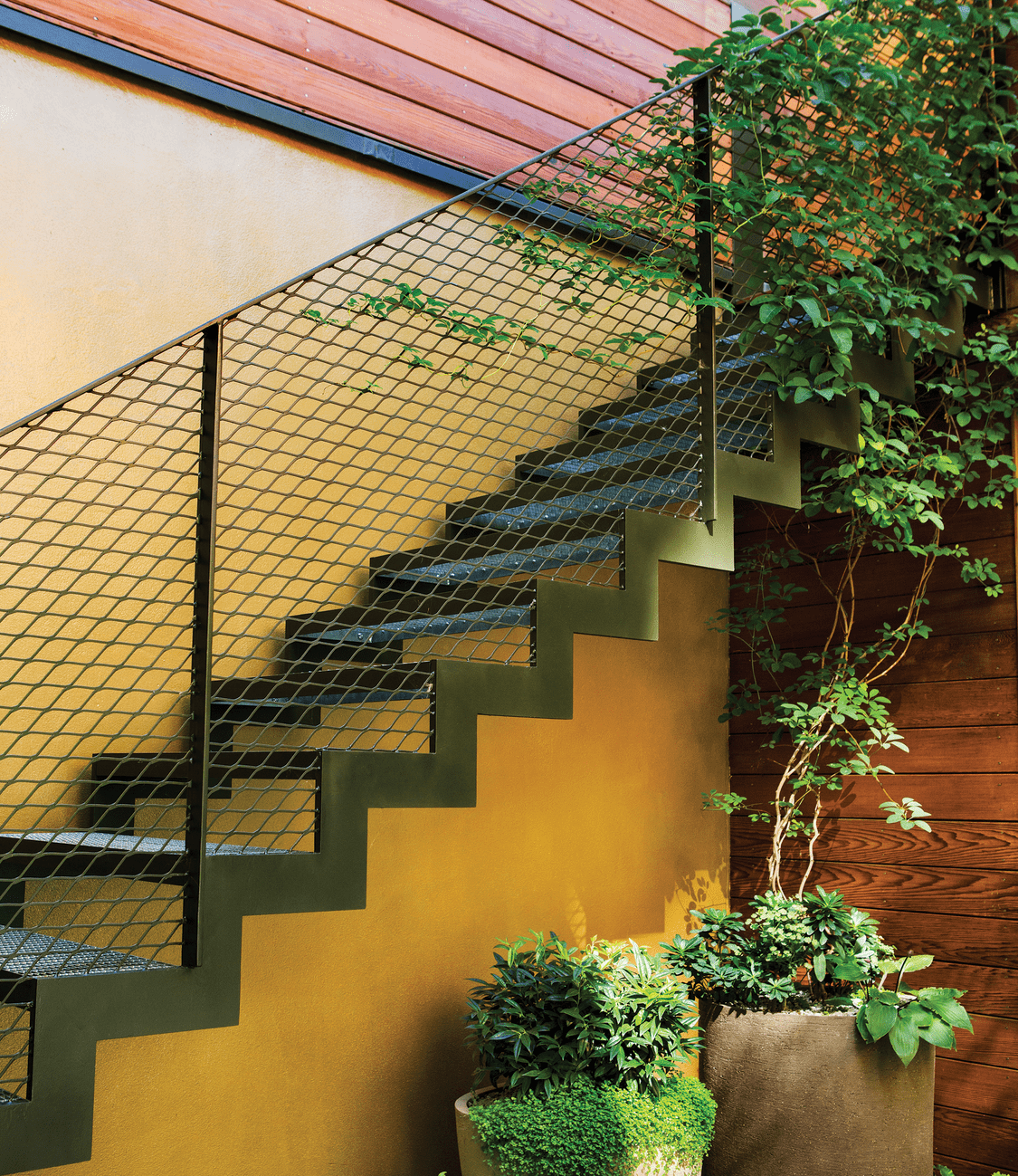 The zig-zagging staircase